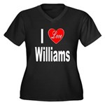 I Love Williams (Front) Women's Plus Size V-Neck D