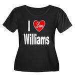 I Love Williams (Front) Women's Plus Size Scoop Ne