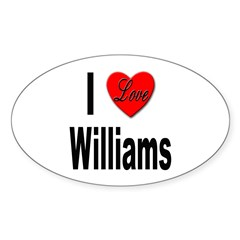 I Love Williams Oval Decal