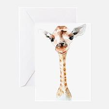 Giraffe Greeting Cards