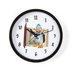 Percy Penguin Wall Clock