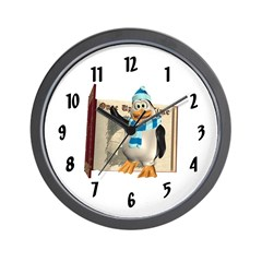 Percy Penguin Wall Clock