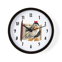 Penny Penguin Wall Clock
