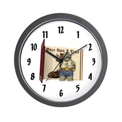 Heath Hippo Wall Clock