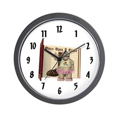 Heather Hippo Wall Clock