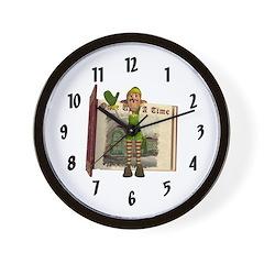 Santa's Elf Wall Clock