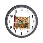 The Three Little Pigs Wall Clock
