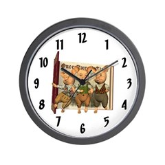 The Three Little Pigs Wall Clock