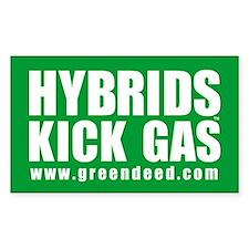 """Hybrids Kick Gas"" Rectangle Decal"