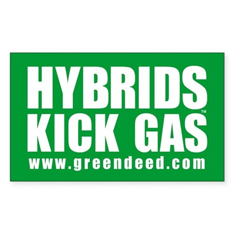 """Hybrids Kick Gas"" Rectangle Sticker"