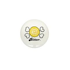 Bitter Lemon Slice & Crossbones Mini Button (10 pa
