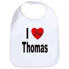 I Love Thomas Bib