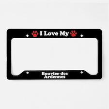 I Love My Bouvier des Ardennes Dog License Plate H