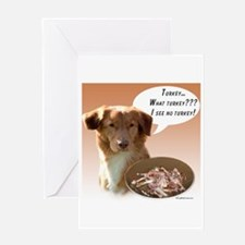 Toller Turkey Greeting Card