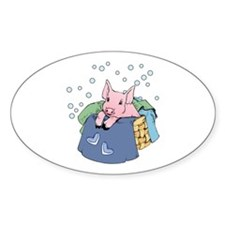 Laundry Day Oval Decal