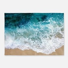 Water Beach 5'x7'Area Rug