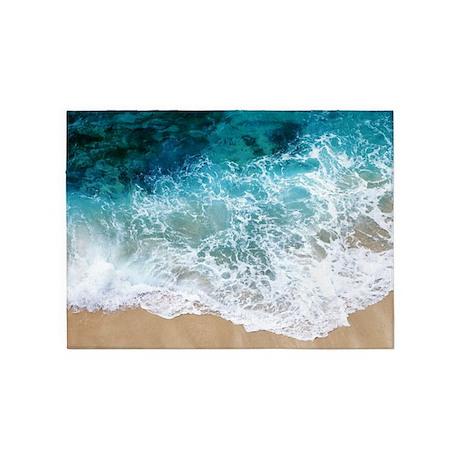 Water Beach 5u0027x7u0027Area Rug