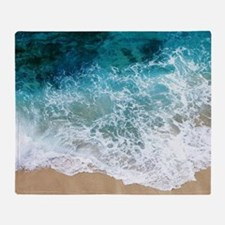 Water Beach Throw Blanket