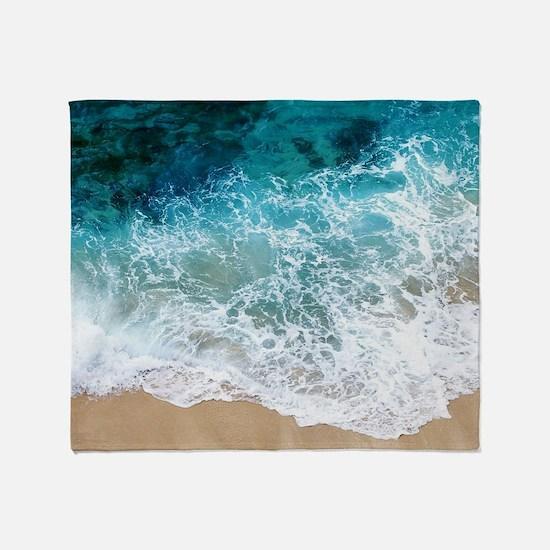 Water Beach Throw Blanket