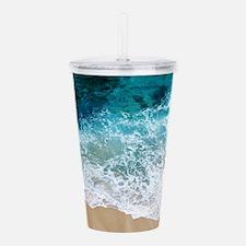 Water Beach Acrylic Double-wall Tumbler