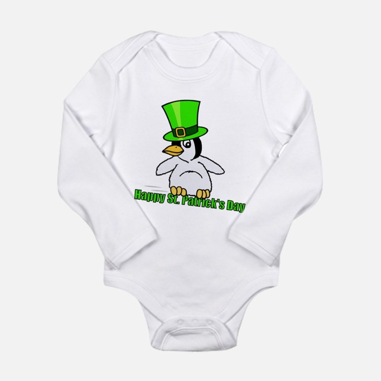 St. Patrick's Day Penguin Body Suit