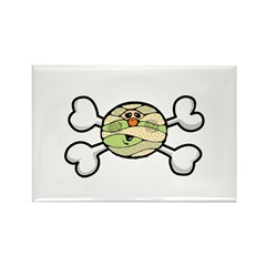Baby Mummy & Crossbones Design Rectangle Magnet