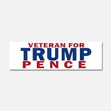 Veteran For Trump Pence Car Magnet 10 x 3