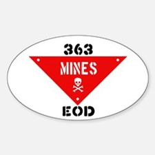 363rd Oval 'Mines' Decal