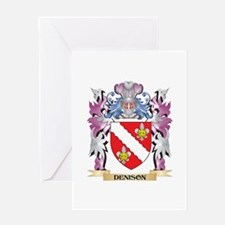 Denison Coat of Arms (Family Crest) Greeting Cards