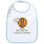 No Turkey Here Thanksgiving Bib