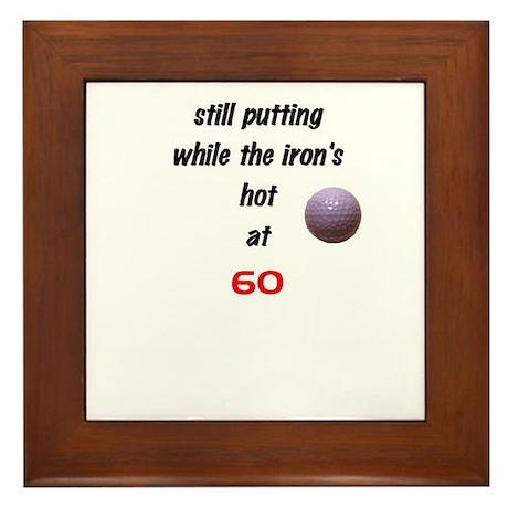 golf at 60 Framed Tile