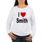 I Love Smith (Front) Women's Long Sleeve T-Shirt