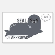Cute Approval Sticker (Rectangle)