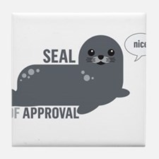 Seal of Approval Tile Coaster
