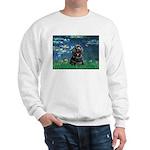 Lilies (5)/Cocker (Blk) Sweatshirt