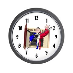 Alpha Man Wall Clock