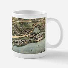 Vintage Pictorial Map of Windsor Locks CT (18 Mugs