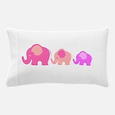 Pink Elephants Pillow Case