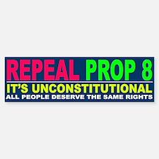Repeal Prop 8 Bumper Bumper Bumper Sticker
