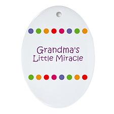 Grandma's Little Miracle Oval Ornament