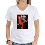Lady / Cocker Spaniel Women's V-Neck T-Shirt