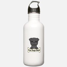 Personalized Pug Water Bottle