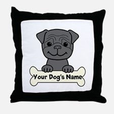 Personalized Pug Throw Pillow