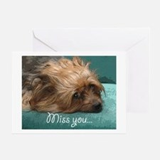 SILKY terrier Dog - Greeting Card