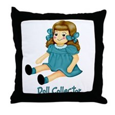 Teal - Rag Doll Throw Pillow