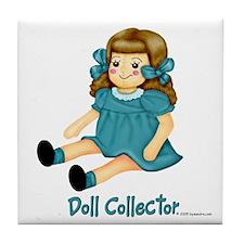 Teal - Rag Doll Tile Coaster