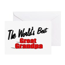 """""""The World's Best Great Grandpa"""" Greeting Card"""