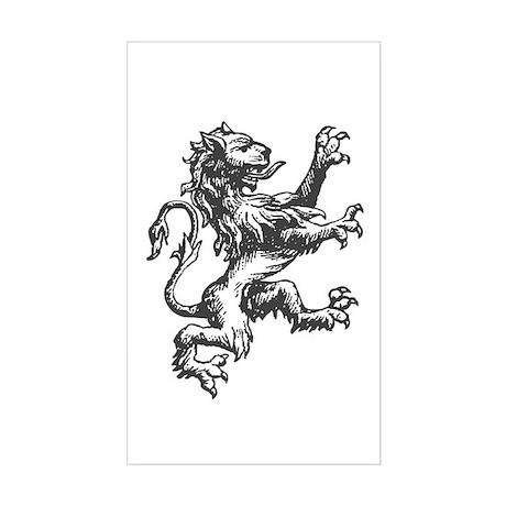 Renaissance Lion (black) Rectangle Sticker