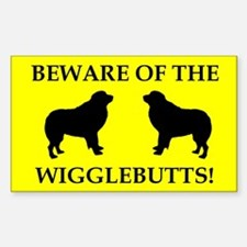 Wigglebutts Beware Decal