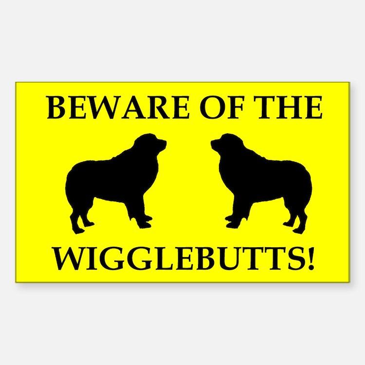 Wigglebutts Beware Decal
